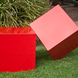 Red Boxes - Simple and striking....  works equally well indoors or outdoors.