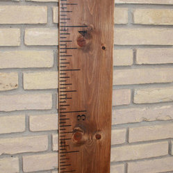 Solid Wood Vintage Ruler Growth Chart by Ry Angel