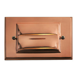Hinkley Lighting - Hinkley Lighting 1546CO-LED Horizontal 1-Light Deck/Step Lighting in Copper - This 1-Light Deck from the Horizontal collection by Hinkley Lighting will enhance your home with a perfect mix of form and function. The features include a Copper finish applied by experts. This item qualifies for free shipping!