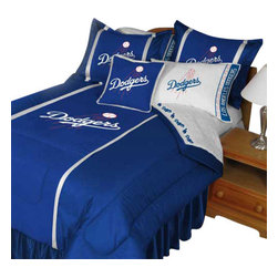 Store51 LLC - MLB Los Angeles Dodgers Comforter Pillowcase Baseball Bed, Queen - Features: