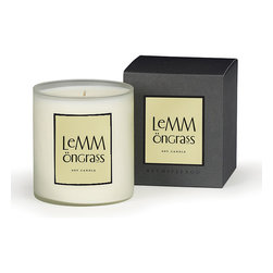 Lemongrass A.B. Home Soy Wax Candle - Large - Subtly citrus and completely lovely, the herbally scented Lemongrass candles zesty and light fragrance is a fantastic choice when you want an aroma that is not too heavily perfumed and will give off the ideal amount of fragrance to fill a powder room or kitchen area.