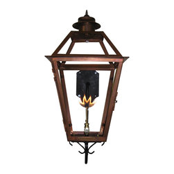 St. James Lighting - Magnolia Medium Copper Wall Mount Lantern - Magnolia Medium Copper Wall Mount Lantern. The Magnolia Lantern offers style and elegance to any entryway! Its beautiful rustic finish along with an old world style presents a welcoming feeling. With glass on all sides, this lantern has the ability to cast 360 degree light. You can even choose to have a glass or solid top! A tasteful cap adorns the top for a finishing touch. With all different mounting options, you can choose from several unique displays to create a look all your own!