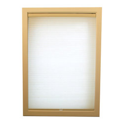 Chicology Cordless Cellular Shade Whisper Tapioca 43X72 - Chicology Cordless Cellular window shades are energy efficient, help to insulate your home and provide a timeless look for your window and room. In addition to providing privacy, the shades are also cordless and open and close with the gentle pull and push of your hand. All brackets / hardware included allow for mounting inside or outside your window frame with ease.