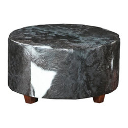 Joshua Marshal - Cow Hide Stool - Cow Hide Stool