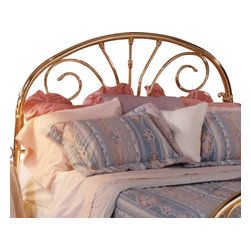 Hillsdale Furniture - Hillsdale Jackson Classic Brass Panel Headboard with Rails - King - Jackson features transitional styling by combining a traditionally arched outer frame with a more contemporary combination of scrolls and finished off with a very pretty casting connection the scroll to the outer arch.