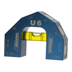 Checkpoint - Checkpoint U6 - Patented 6-Degree Vial Level, Blue - There is NO level like the U6! Its patented design incorporates more degree readings than any level in its class to meet any contractor's needs with readings at 0°, 22.5°, 30°, 45°, 60° and 90°. And with our 45 min./arc reading bubble vial, you get precise and accurate readings every time.