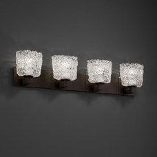 Justice Design Veneto Luce Modular 4-Light Bath Bar in Dark Bronze GLA-8924-30-L