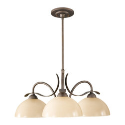 Murray Feiss - Corinthian Bronze Kinsey 3 Light 1 Tier Chandelier - Lamping Technologies: