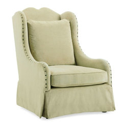 Schnadig - Caracole Comfy Cozy Chair - This piece is a relaxed and comfortable approach to today's lifestyles. With a curvaceous frame and a spaced decorative hammered pewter nailhead trim, this chair will be a fabulous addition to any room in your home.