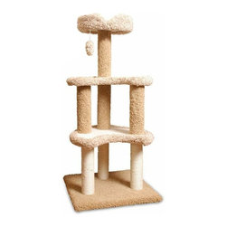 Majestic Pet - Majestic Pet Products 50 in. Carpeted Sherpa Moon Cat Tree Multicolor - 78899578 - Shop for Towers and Houses and Accessories from Hayneedle.com! Towering over four feet tall the Majestic Pet Products 50 in. Carpeted Sherpa Moon Cat Tree lets your beloved cat observe from on high and of course nap the day away. This fine cat tree has three levels and features a dangling fur ball for some great batting time. At the bottom there are Sisal rope-wrapped posts to let your cat scratch away while sparing the furniture. It is all upholstered in a faux fur that cleans up in a snap.