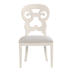 Stanley Furniture - Coastal Living Cottage Wayfarer Side Chair - Sand Dollar Finish - Like the old bistro chairs outside the coastal candy shoppe, these cut-back chairs bring an easy smile to any table. Upside down heart motif gives a kiss to your lower back, while the open top section is perfectly sized to fit your palm. Made to order in America.