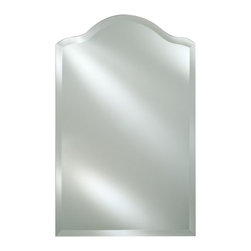 Afina - Radiance Frameless Decorative Arch Vanity / Wall Mirror - RM-725 - Shop for Bathroom Mirrors from Hayneedle.com! The Radiance Frameless Decorative Arch Vanity / Wall Mirror completes the look of your bedroom bathroom or foyer with a clean crisp style. Its simple design features an arched top and 1-inch beveled edge. Choose from available size options to match your wall space. Hang easily from any wall with the included hanging hardware and open up your decor with space light and sparkling ambiance. Mirror Dimension options: 16W x 25H inches 20W x 30H inches 24W x 35H inches About AfinaAfina Corporation is a manufacturer and importer of fine bath cabinetry lighting fixtures and decorative wall mirrors. Afina products are available in an extensive palette of colors and decorative styles to reflect the trends of a new millennium. Based in Paterson N.J. Afina is committed to providing fine products that will be an integral part of your unique bath environment.