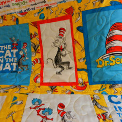 Dr. Seuss Custom-Made Quilt by I Sew Much Time - This Etsy seller will make a comfy Dr. Seuss quilt in whatever size you'd like. I love the bright colors and fun prints.