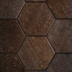 Hive Pattern - Hexagonal shaped tiles, individually simple, but when fit together form a complex honeycomb. Hive creates an elemental effect, an efficiency and perfection found only in nature. The pattern seems to radiate from each individual piece, in an organic fashion.