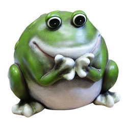 Alpine - Frog Statue - 9 inch - Features:Dimensions: