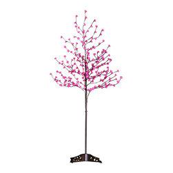 Lightshare - Lightshare 6Ft 208 LED Rose Flower Tree, 20 LED C7 Light, Pink - Description: