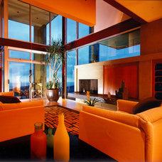 Contemporary Living Room by Aria Design Inc