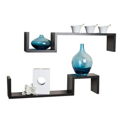 Danya B - S Wall Mount Shelves - Set of 2 - Set of 2. Colors: Espresso. No visible hanging hardware. All hardware included. Set includes 2 shelves. 22.5 in. L x 4 in. W x 4.75 in. H (4.5 lbs)