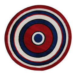 Fun Rugs - Concentric-2 Multicolor Kids Rug - Your child's room is a natural extension of them. Add these innovative designs from LA Rug to spruce up any child's decor.