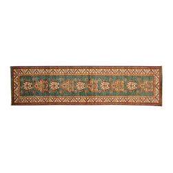 Oriental Rug, 100% Wool Super Kazak 3'X10' Runner Hand Knotted Rug SH13001 - This collections consists of well known classical southwestern designs like Kazaks, Serapis, Herizs, Mamluks, Kilims, and Bokaras. These tribal motifs are very popular down in the South and especially out west.