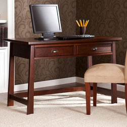 Upton Home - Upton Home Bruno Espresso Desk - The warmth and style make the Bruno desk a great choice for homes with transitional to modern d�cor. Add one to your home office or bedroom for a workspace that really works.