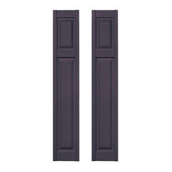 Builders Edge 12W in. Cottage Style Raised Panel Vinyl Shutters - Give your home a bit of a facelift with the Builders Edge 12W in. Cottage Style Raised Panel Vinyl Shutters. They install in no time flat and have a classic design with a realistic wood-grain finish. Unlike their wooden counterparts these copolymer shutters have a color-through construction so their rich color will never chip scratch or fade. They come in a wide variety of color and size options so it's easy to find the right ones for your home. About Builders EdgeBuilt upon a foundation of simplicity and beauty Builders Edge puts your life and time back in your hands. Their exterior decorative products are designed to install easily while providing a vast array of styles and sizes to fit your home. Dentil trim sunbursts gable vents and louver shutters are just a few Builders Edge products. They're constructed of premium PVC to ensure a long life of maintenance-free enjoyment and are backed by a limited lifetime warranty. Complementing a full range of new and existing home décor Builders Edge products allow you to realize the full potential of your home in a matter of hours.