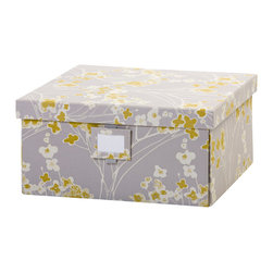 Working Class Studio - Re-Gift Collection Branch Box, Slate, Large - Think inside the box. Any present you put in this pretty package is bound to be appreciated, and the box itself will serve to store letters, mementos, photos, etc.