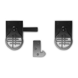 "360 Yardware - Asian Inspired Contemporary Gate Latch - Asian inspired gate latch made of stainless steel and aluminum and powdercoated black for additional rust resistance. Fits gates up to 4"" thick."