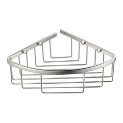 Fresca - Fresca Single Corner Wire Basket - Brushed Nickel - Fresca Single Corner Wire Basket - Brushed Nickel