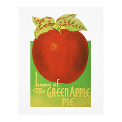 "Cool Culinaria - The Green Apple Pie Shop, Seattle 1946 Vintage Menu Art, 16x20"" - Cool Culinaria Giclee Prints on 300-315 GSM Archival Art Paper. Printed in New York"
