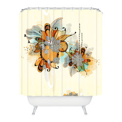 DENY Designs - Iveta Abolina Sunset 2 Shower Curtain - Who says bathrooms can't be fun? To get the most bang for your buck, start with an artistic, inventive shower curtain. We've got endless options that will really make your bathroom pop. Heck, your guests may start spending a little extra time in there because of it!