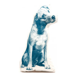 Fauna - Jack Russell Pillow, Pacific on Natural - That iconic sideways glance from a Jack Russell terrier would surely charm even a die-hard cat lover! You can't help but fall for the sweet expression on this dog's face. Now just imagine him finding a cozy home on your sofa or bed without ever worrying about the dog hair.