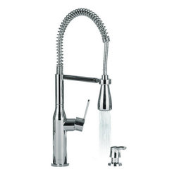Miseno - Miseno Commercial Style Pre-Rinse Kitchen Faucet Soap Dispenser Polished Chrome - Product Features: