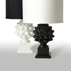 eclectic table lamps by Burke Decor