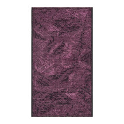 """Safavieh - Svana Rug, Black / Purple 2' X 3'6"""" - Construction Method: Power Loomed. Country of Origin: Turkey. Care Instructions: Vacuum Regularly To Prevent Dust And Crumbs From Settling Into The Roots Of The Fibers. Avoid Direct And Continuous Exposure To Sunlight. Use Rug Protectors Under The Legs Of Heavy Furniture To Avoid Flattening Piles. Do Not Pull Loose Ends; Clip Them With Scissors To Remove. Turn Carpet Occasionally To Equalize Wear. Remove Spills Immediately. Elegant Old World velvet motifs make a fashion statement for the floor in PALAZZO. A rich vintage look is achieved with a combination of lustrous and matte yarns in polypropylene and natural jute, and textural chenille for velvety pattern dimension."""