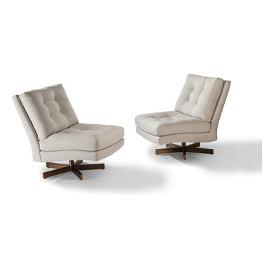 Steve Spinner Armless Swivel Lounge Chair by Milo Baughman from Thayer Coggin -
