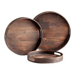 Cyan Design - Dupre Trays-05589 - Dupre trays - walnut