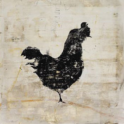 Vintage Rooster by Leftbank Art - It's good luck to have a rooster in your kitchen – why not have it be this contemporary distressed silhouette giclee? Personally, I might even go over the top with this one and pair it with Peter Fasano's Coop wallpaper.