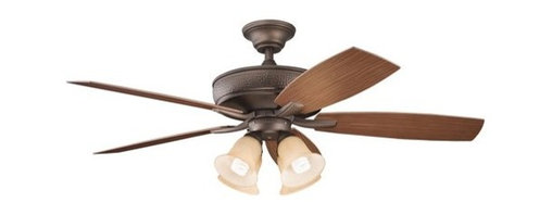 """Kichler - Kichler 310103WCP Monarch II Patio 54"""" Outdoor Ceiling Fan 5 Blades - Rem - Included Components:"""