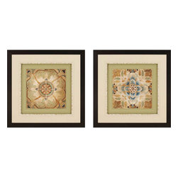 Paragon - Petite Tiles I PK/2 - Framed Art - Each product is custom made upon order so there might be small variations from the picture displayed. No two pieces are exactly alike.