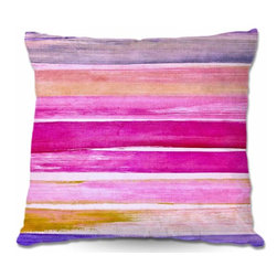 DiaNoche Designs - Pillow Woven Poplin - Color Play VI - Toss this decorative pillow on any bed, sofa or chair, and add personality to your chic and stylish decor. Lay your head against your new art and relax! Made of woven Poly-Poplin.  Includes a cushy supportive pillow insert, zipped inside. Dye Sublimation printing adheres the ink to the material for long life and durability. Double Sided Print, Machine Washable, Product may vary slightly from image.