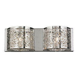 """Worldwide Lighting - Aramis 2 Light Chrome Finish and Clear Crystal LED Wall Sconce Light 20"""" W, Larg - This stunning 2-light LED wall sconce only uses the best quality material and workmanship ensuring a beautiful heirloom quality piece. Featuring a radiant chrome finish and finely cut premium grade crystals with a lead content of 30% for spectacular radiance. The LED light source will illuminate the room with superior energy efficiency, extreme long life, and durability. Fully dimmable to deliver the maximum light on the task while providing ambiance to the room. Worldwide Lighting Corporation is a privately owned manufacturer of high quality crystal chandeliers, pendants, surface mounts, sconces and custom decorative lighting products for the residential, hospitality and commercial building markets. Our high quality crystals meet all standards of perfection, possessing lead oxide of 30% that is above industry standards and can be seen in prestigious homes, hotels, restaurants, casinos, and churches across the country. Our mission is to enhance your lighting needs with exceptional quality fixtures at a reasonable price."""