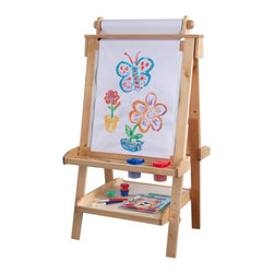KidKraft - Deluxe Wood Easel - Natural by Kidkraft - Creativity, functionality and style come together in KidKraft's Deluxe Wood Easel. With classic lines that will enhance any room or play setting, KidKraft's Deluxe Wood Easel will bring out your child's inner-artist.