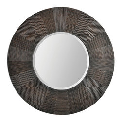 Ren-Wil - Ren-Wil MT1309 Delevan Mirror - The Delevan mirror features a rich organic etched frame finished in a warm brown. Center mirror is beveled.