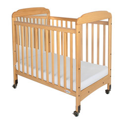 "Foundations - Foundations Nursery Baby Bedding Serenity Compact Fixed Side Crib, Mirror - There are reasons why Serenity cribs are the most widely used cribs in U.S. child care facilities. Serenity offers an unprecedented amount of features to select from. Color coordinated finishes are matched with hardware and casters for added beauty. Five-year warranty on crib with lifetime warranty on steel frame, casters, and hardware. Mattress board adjusts to two heights. Easy assembly includes all necessary tools. Warranty: 5 year limited warranty on crib with lifetime warranty on steel frame, casters, and hardware. Assembly: Easy assembly includes all necessary tools. Mortise and tenon construction headboard provides added strength. Mattress board adjust to two heights. Nonmarking, ultra quiet commercial casters (two locking). Lower profile allows easier accessibility to infant. SafeSupport solid steel frame provides unprecedented strength. Includes Professional Series ultra durable, antimicrobial 3"" mattress. Mattress not included."