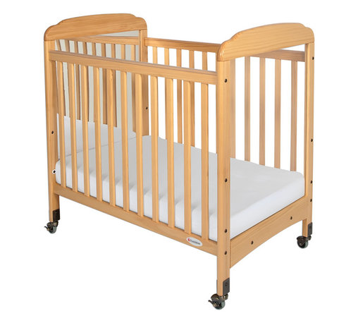 """Foundations - Foundations Nursery Baby Bedding Serenity Compact Fixed Side Crib, Mirror - There are reasons why Serenity cribs are the most widely used cribs in U.S. child care facilities. Serenity offers an unprecedented amount of features to select from. Color coordinated finishes are matched with hardware and casters for added beauty. Five-year warranty on crib with lifetime warranty on steel frame, casters, and hardware. Mattress board adjusts to two heights. Easy assembly includes all necessary tools. Warranty: 5 year limited warranty on crib with lifetime warranty on steel frame, casters, and hardware. Assembly: Easy assembly includes all necessary tools. Mortise and tenon construction headboard provides added strength. Mattress board adjust to two heights. Nonmarking, ultra quiet commercial casters (two locking). Lower profile allows easier accessibility to infant. SafeSupport solid steel frame provides unprecedented strength. Includes Professional Series ultra durable, antimicrobial 3"""" mattress. Mattress not included."""