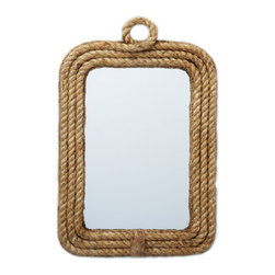 Rope-Framed Mirror - No beach house is complete without this rope-framed mirror from Furbish Studio. Even if you're landlocked, this simple stunner will provide the perfect nautical touch.
