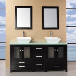 Design Elements - Design Element Arlington 61 in. Double Sink Vanity Set - Design Elements Arlington 61 in. Double Sink Vanity Set (DEC072B-G)