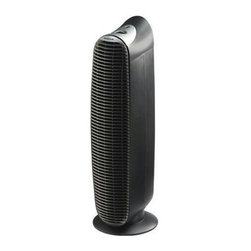 Kaz Inc - Honeywell Tower Purifier Black - Never replace your filters again!  This Honeywell air purifier includes HEPA-Type filters that can be vacuumed and replaced back into the unit, saving money in replacement filter costs.  The Honeywell HEPA-Type filter s efficiency is rated at 99% in capturing airborne particles such as smoke, dust, pollen, cat dander and mold spores.  The Electronic Filter Clean Indicator illuminates to remind you when to clean the filters.  This model features three air cleaning levels and an independent ionizer control for extra cleaning power.  Recommended for medium size rooms, the sleek tower design and quiet operation makes it ideal for any room in your home.  3 speeds, Independent ionizer control.  Antimicrobial treated filter.  AHAM Certified.  Recommended Room Size: 13' x 13' (169 sq. ft.).  AHAM CADR Rating: 110. **Based on ordinary use and care. *From the air that passes through the filter. HEPA-Type filter helps capture airborne particles that are 2 microns or larger in size from the air that passes through the filter.