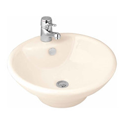The Renovators Supply - Vessel Sinks Bone Pellegrino Vessel Sink | 10784 - Vessel Sinks Above Counter: Made of Grade A vitreous China these sinks easily endure daily wear and tear. Our protective RENO-GLOSS finish resists common household stains and makes it an EASY CLEAN wipe-off surface. Ergonomic and elegant easy reach design reduces daily strain placed on your body. SPACE-SAVING design maximizes limited bathroom space. Easy, above counter installation let's you select from many faucet styles and countertop designs, sold separately. Measures 17 1/2 inch diameter